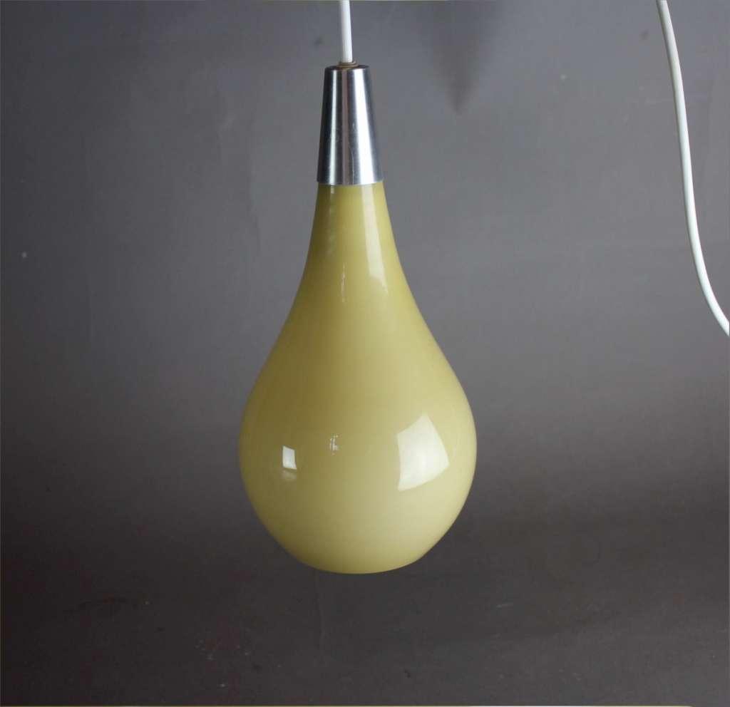 yellow pendant lighting. 1950\u0027s Yellow Conical Glass Pendant Lamp Lighting
